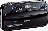 Fujifilm's FinePix REAL 3D W3 digital camera. Photo provided by Fujifilm North America Corp.