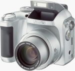 Fuji's FinePix S3000 digital camera. Courtesy of Fuji Israel, with modifications by Michael R. Tomkins. Click for a bigger picture!