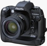 Fujifilm's FinePix S3 Pro digital SLR. Courtesy of Fujifilm, with modifications by Michael R. Tomkins.