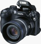 Fuji's FinePix S5000 digital camera. Courtesy of Fuji, with modifications by Michael R. Tomkins.