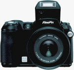 Fujifilm's FinePix S5100 digital camera. Courtesy of Fujifilm, with modifications by Michael R. Tomkins.