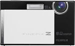 Fujifilm's FinePix Z100fd digital camera. Courtesy of Fujifilm, with modifications by Michael R. Tomkins.