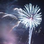 July 4th 2001 fireworks at Chilhowee Park, Knoxville TN. Copyright (c) 2001, Michael R. Tomkins, all rights reserved.