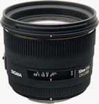 Sigma's 50mm F1.4 EX DG HSM lens for Four Thirds. Courtesy of Sigma, with modifications by Michael R. Tomkins.