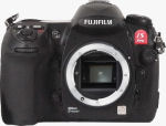 Fujifilm's IS Pro digital SLR. Courtesy of Fujifilm, with modifications by Michael R. Tomkins.
