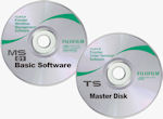 Fujifilm's MS workflow management software and TS print order terminal software CDs. Courtesy of Fujifilm, with modifications by Michael R. Tomkins.