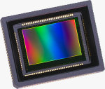 Foveon's FX17-78-F13D image sensor. Courtesy of Foveon, with modifications by Michael R. Tomkins.