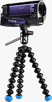 Gorillapod Video with Sony camcorder attached. Photo provided by Joby.