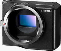 Ricoh's GXR Mount A12 accepts a variety of Leica M-mount lenses, as well as certain other types via adapters. Photo provided by Ricoh Co. Ltd.