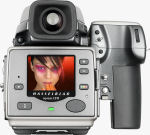 Hasselblad's H2 camera with Ixpress CFH digital back. Courtesy of Hasselblad, with modifications by Michael R. Tomkins.