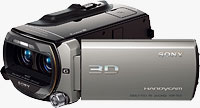 Sony's HDR-T10 3D camcorder. Photo provided by Sony Electronics Inc.