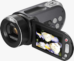 Samsung HMX-H104 camcorder. Photo provided by Samsung Electronics America Inc.
