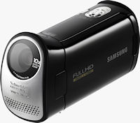 The Samsung HMX-T10 camcorder. Photo provided by Samsung Electronics Co. Ltd.