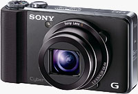 Sony's HX9V digital camera. Photo provided by Sony Electronics Inc.