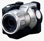 Sanyo's IDC-1000Z digital camera. Courtesy of Sanyo, with modifications by Michael R. Tomkins.
