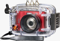 Nikon's Coolpix L18 digital camera in an Ikelite underwater housing. Photo provided by Ikelite Underwater Systems.
