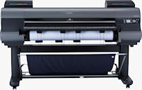 The imagePROGRAF iPF8300 large format printer. Photo provided by Canon USA Inc.