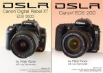 Peter iNova's 'DSLR: Canon Digital Rebel XT EOS 350D' and 'DSLR: Canon EOS 20D' eBooks. Courtesy of Peter iNova, with modifications by Michael R. Tomkins.