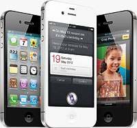 Apple's iPhone 4S smartphone. Image provided by Apple Inc.