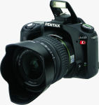 Pentax's *ist DL digital SLR. Courtesy of Pentax, with modifications by Michael R. Tomkins.