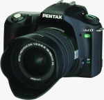 Pentax's *ist DS digital camera. Courtesy of Pentax, with modifications by Michael R. Tomkins.
