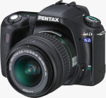 Pentax's *ist DS2 digital SLR. Courtesy of Pentax, with modifications by Michael R. Tomkins.