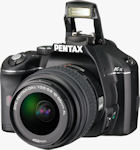 Pentax's K-x digital SLR. Photo provided by Pentax Imaging Co.