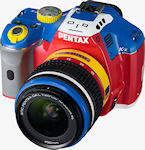 The Pentax K-x Korejanai Robot Model kit, showing off the 'face' markings. Photo provided by Hoya Corp.