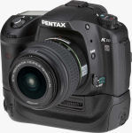 Pentax's K10D single-lens reflex digital camera. Courtesy of Pentax, with modifications by Michael R. Tomkins.