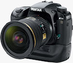 Pentax's K20D digital SLR. Courtesy of Pentax, with modifications by Michael R. Tomkins.