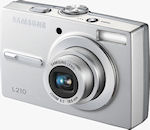 Samsung's L210 digital camera. Courtesy of Samsung, with modifications by Michael R. Tomkins.