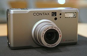 Contax' Tvs digital camera. Used by permission of LetsGoDigital.nl, with modifications by Michael R. Tomkins.