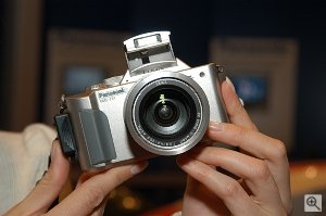 Panasonic's DMC-FZ1 digital camera. Used by permission of LetsGoDigital.nl, with modifications by Michael R. Tomkins. Click for a bigger picture!