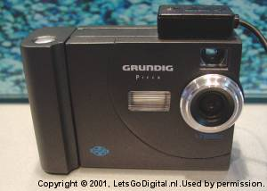 Grundig's Picca DMC 5100 digital camera. Courtesy of LetsGoDigital.nl.