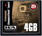 Lexar's 4GB CompactFlash card. Courtesy of Lexar, with modifications by Michael R. Tomkins.