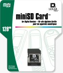 Lexar's miniSD card packaging. Courtesy of Lexar, with modifications by Michael R. Tomkins.