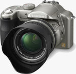 Panasonic's Lumix DMC-FZ30 digital camera. Courtesy of Panasonic, with modifications by Michael R. Tomkins.
