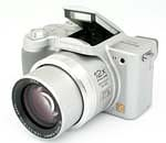 Panasonic's Lumix DMC-FZ4 digital camera. Courtesy of Panasonic, with modifications by Michael R. Tomkins.