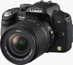 Panasonic's Lumix DMC-L10 digital SLR. Courtesy of Panasonic, with modifications by Michael R. Tomkins.