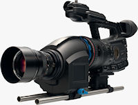 Redrock Indie Bundle with Canon XF305 high definition camcorder and Carl Zeiss lens. Photo provided by Redrock Microsystems, LLC.