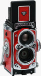 Komamura's RolleiFlex MiniDigi digital camera. Courtesy of Komamura, with modifications by Michael R. Tomkins.