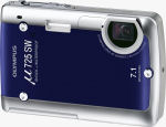 Olympus' Mju 725 SW digital camera. Courtesy of Olympus, with modifications by Michael R. Tomkins.