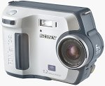 Sony's Mavica MVC-FD100 digital camera. Courtesy of Sony, with modifications by Michael R. Tomkins.