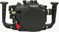 Nauticam's NA-550D underwater housing for Canon's EOS Rebel T2i / 550D digital SLR. Photo provided by Nauticam International Ltd.