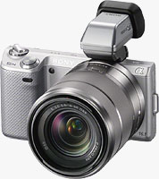 Sony's Alpha NEX-5N compact system camera. Photo provided by Sony Electronics Inc.