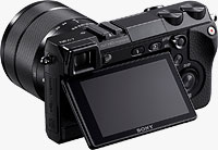 Sony's flagship Alpha NEX-7 compact system camera. Photo provided by Sony Electronics Inc.