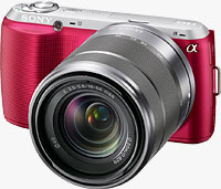 Sony's Alpha NEX-C3 compact system camera. Photo provided by Sony Electronics Inc.