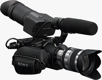 Sony's NEX-FS100U E-mount camcorder. Photo provided by Sony Europe (Belgium) N.V.