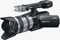 Sony's NEX-VG10 interchangeable lens camcorder. Photo provided by Sony Electronics Inc.