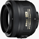 Nikon's AF-S DX Nikkor 35mm f/1.8G lens. Photo provided by Nikon Inc.